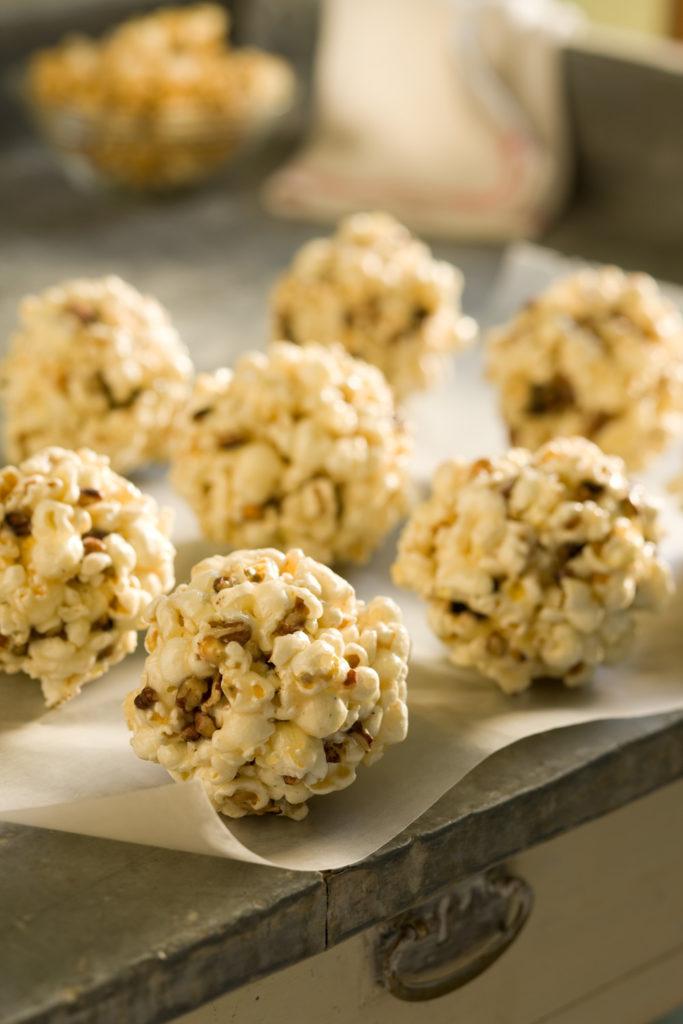 Maple Pecan Popcorn Balls