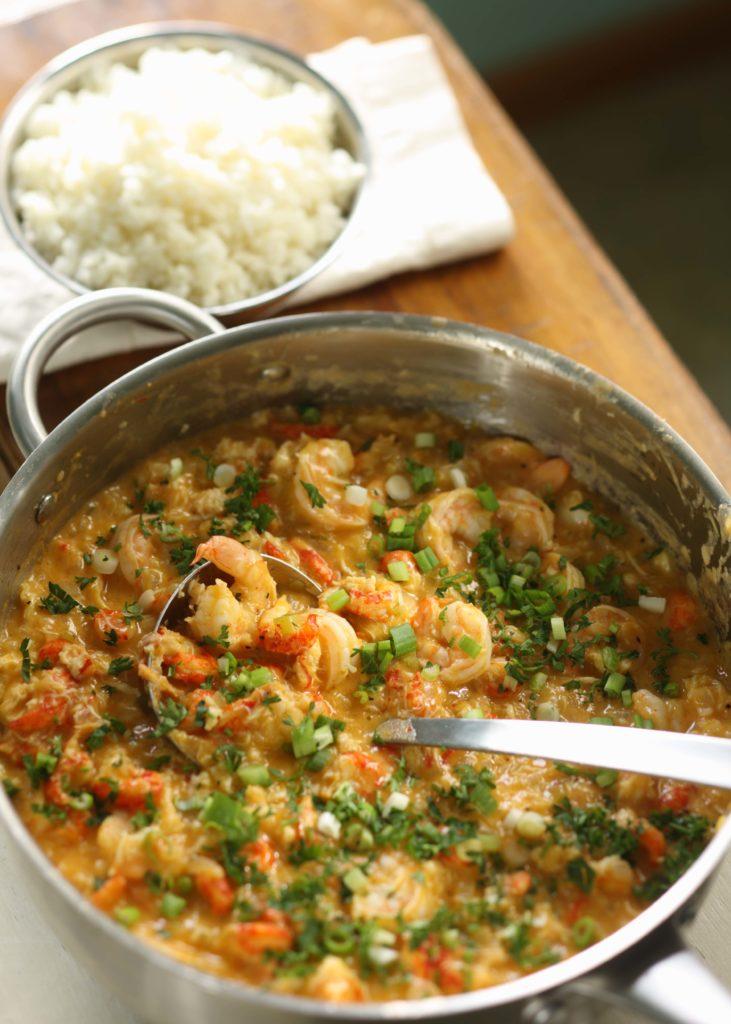 Crawfish, Shrimp and Lump Crabmeat Etouffee