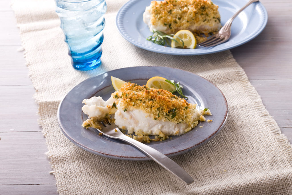 Halibut with Tarragon-Lemon Breadcrumbs